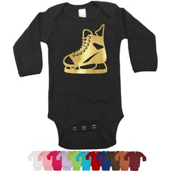 Hockey Foil Bodysuit - Long Sleeves - 6-12 months - Gold, Silver or Rose Gold (Personalized)
