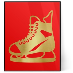Hockey 8x10 Foil Wall Art - Red (Personalized)