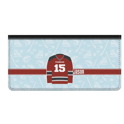 Hockey Genuine Leather Checkbook Cover (Personalized)