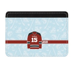 Hockey Genuine Leather Front Pocket Wallet (Personalized)