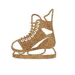 """Hockey Glitter Iron On Transfer - Up to 15""""x15"""" (Personalized)"""