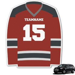 Hockey Graphic Car Decal (Personalized)