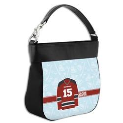 Hockey Hobo Purse w/ Genuine Leather Trim w/ Name and Number
