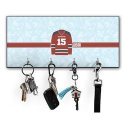 Hockey Key Hanger w/ 4 Hooks (Personalized)