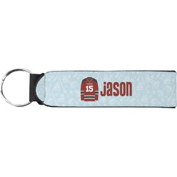 Hockey Neoprene Keychain Fob (Personalized)