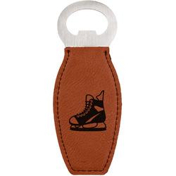 Hockey Leatherette Bottle Opener (Personalized)
