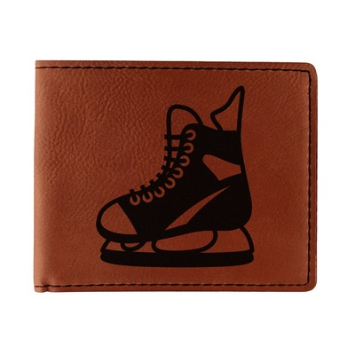 Hockey Leatherette Bifold Wallet (Personalized)