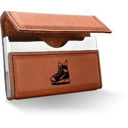 Hockey Leatherette Business Card Holder (Personalized)