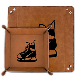 Hockey Faux Leather Valet Tray (Personalized)