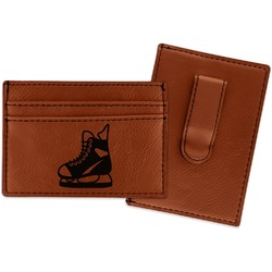 Hockey Leatherette Wallet with Money Clip (Personalized)