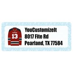 Hockey Return Address Labels (Personalized)