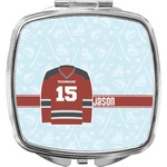 Hockey Compact Makeup Mirror (Personalized)