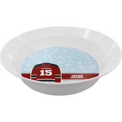 Hockey Melamine Bowl - 12 oz (Personalized)