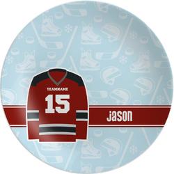Hockey Melamine Plate (Personalized)