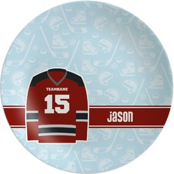 Hockey Melamine Plate (Personalized)