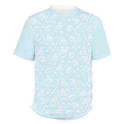 Hockey Men's Crew T-Shirt (Personalized)