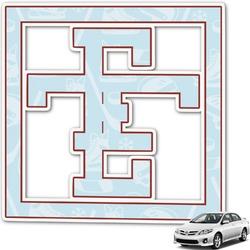 Hockey Monogram Car Decal (Personalized)