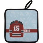 Hockey Pot Holder w/ Name and Number