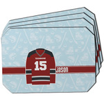 Hockey Dining Table Mat - Octagon w/ Name and Number