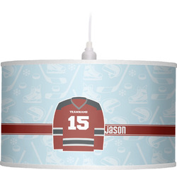 Hockey Drum Pendant Lamp Linen (Personalized)