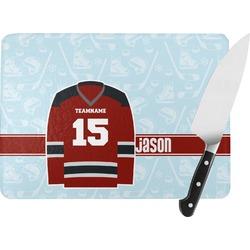 Hockey Rectangular Glass Cutting Board (Personalized)