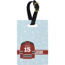 Hockey Rectangular Luggage Tag (Personalized)