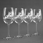 Hockey Wine Glasses (Set of 4) (Personalized)