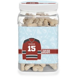 Hockey Dog Treat Jar (Personalized)