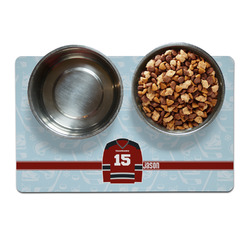 Hockey Pet Bowl Mat (Personalized)