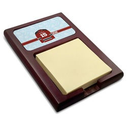 Hockey Red Mahogany Sticky Note Holder (Personalized)
