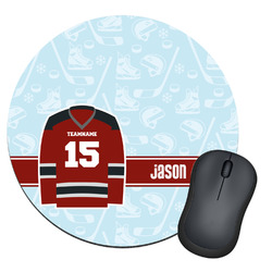 Hockey Round Mouse Pad (Personalized)