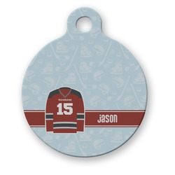 Hockey Round Pet Tag (Personalized)