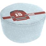 Hockey Round Pouf Ottoman (Personalized)