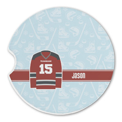 Hockey Sandstone Car Coasters (Personalized)