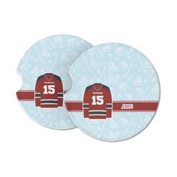 Hockey Sandstone Car Coasters (Personalized)