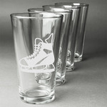 Hockey Beer Glasses (Set of 4) (Personalized)