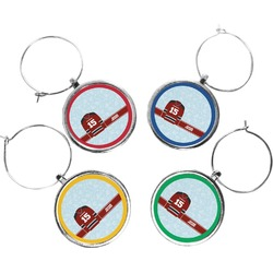 Hockey Wine Charms (Set of 4) (Personalized)