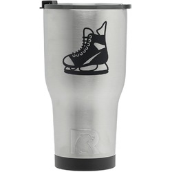 Hockey RTIC Tumbler - Silver - Engraved Front (Personalized)