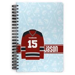 Hockey Spiral Bound Notebook (Personalized)
