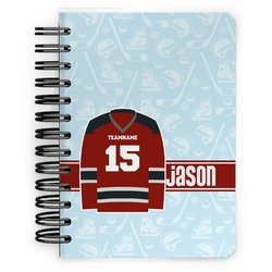 Hockey Spiral Bound Notebook - 5x7 (Personalized)