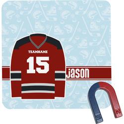 Hockey Square Fridge Magnet (Personalized)