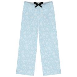 Hockey Womens Pajama Pants - XL (Personalized)