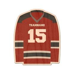 Hockey Genuine Wood Sticker (Personalized)
