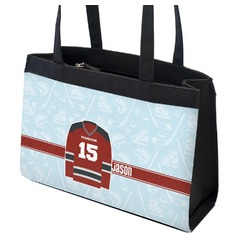 Hockey Zippered Everyday Tote (Personalized)