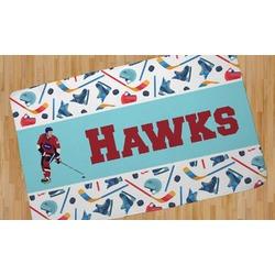 Hockey 2 Area Rug (Personalized)