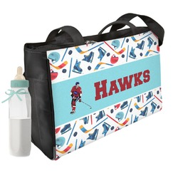 Hockey 2 Diaper Bag (Personalized)