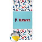 Hockey 2 Beach Towel (Personalized)