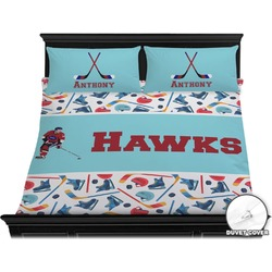 Hockey 2 Duvet Cover Set - King (Personalized)