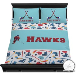 Hockey 2 Duvet Cover Set (Personalized)