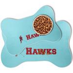 Hockey 2 Bone Shaped Dog Food Mat (Personalized)
